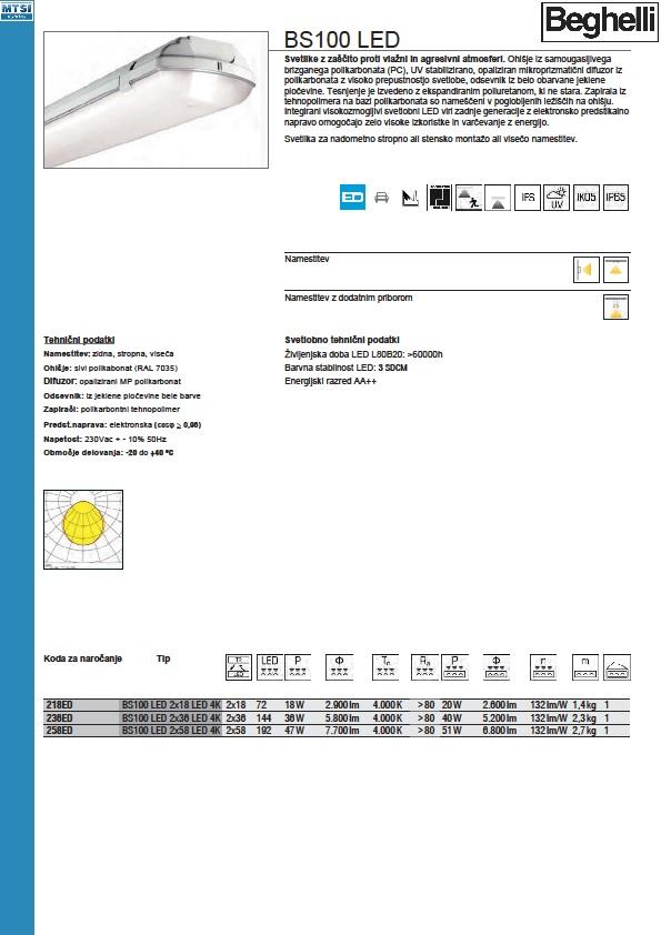 BS 100 Led katalog